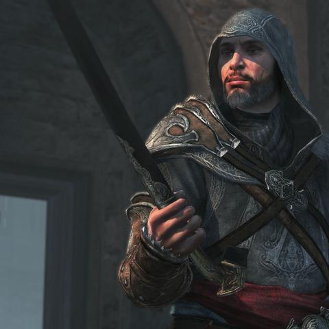 埃齐奥(Ezio)拿着穆斯林刺客剑