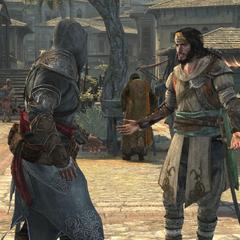 Yusuf stelt zichzelf voor aan Ezio