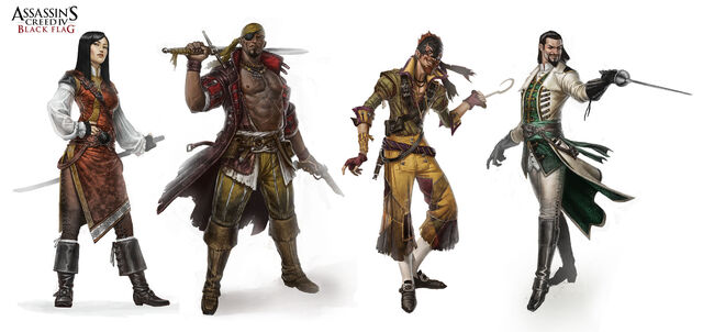 File:Assassin's Creed 4 characters. by johan g.jpg