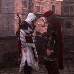 Ezio en Leonardo in Rome.