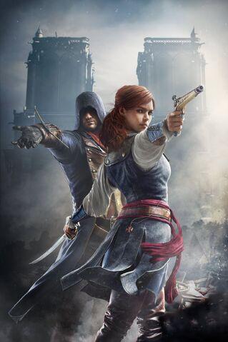 Bestand:Arno and Elise - Unity Promotional Art.jpg