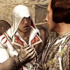 Ezio wil de namen van de samenzweerders weten.