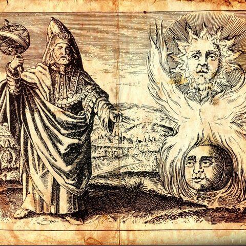 Een illustratie van Hermes Trismegistus