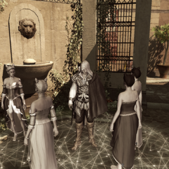 Ezio leert hoe hij in de menigte moet opgaan.