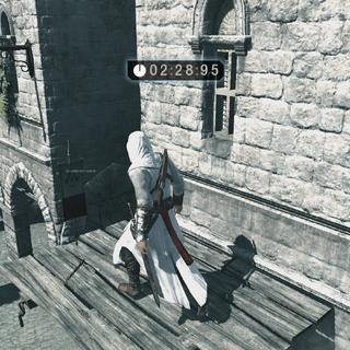 Altaïr verzamelt de vlaggen.