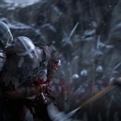 Ezio doodt een Byzantijnse Tempelier