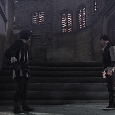 Ezio confronteert Vieri.