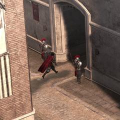 Cesare verlaat de burcht