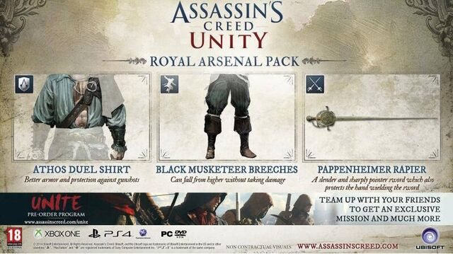 File:Assassin's Creed Unity Royal Arsenal Pack.jpg