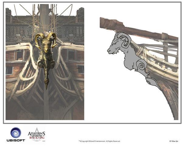 File:Assassin's Creed IV Black Flag -Ship-Jackdaw - Figurehead 1 by max qin.jpg