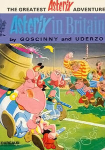 Asterix in Britain (front cover - English edition)