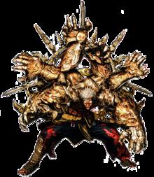 Six armed mantra asura by superkaijuking-d8zrkui