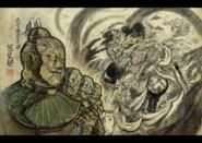 Shinkoku Soldiers admiring Augus
