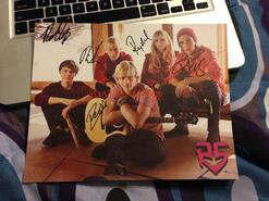 Signed r5 poster