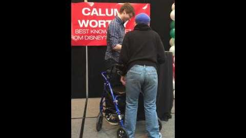 Me meeting Calum Worthy from Austin and Ally!