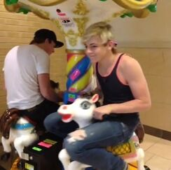 Ross on a horse