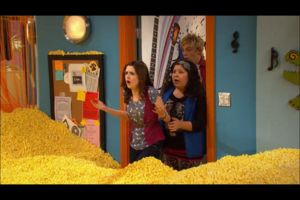 Ally, Trish and Austin loaded with popcorn