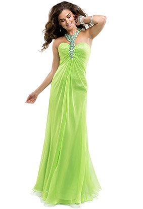 Image - Beaded halter green prom dress.png | Austin & Ally Wiki ...