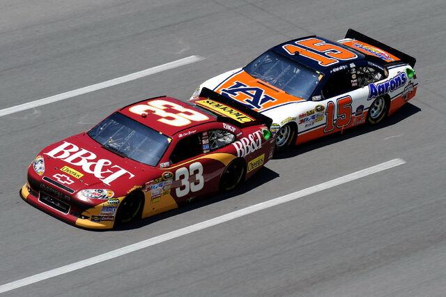 File:2011TalladegaApr NSCS Race Clint Bowyer and Michael Waltrip.jpg