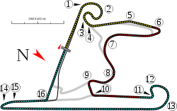 Shanghai International Racing Circuit track map