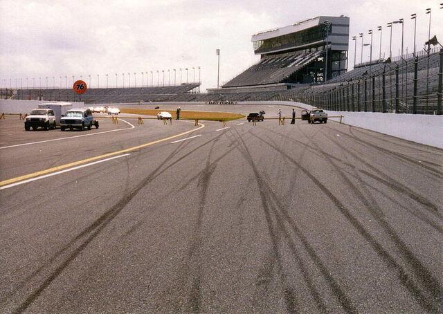 File:800px-Daytona International Speedway skidmarks on racetrack view of grandstand.jpg