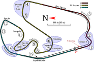 Autódromo José Carlos Pace (AKA Interlagos) track mapa