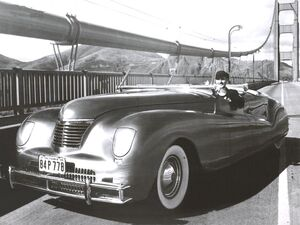 1941 Chrysler Newport LeBaron Concept Car Frt Qtr BW