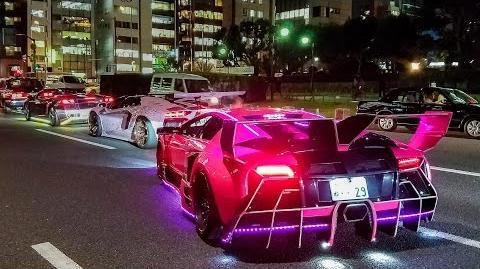 Crazy & Colorful Lamborghini Halloween Run in Tokyo