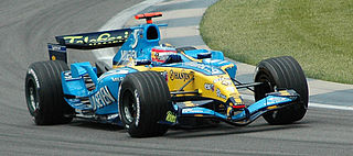 (Renault) qualifying at USGP 2005