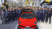 2 Last Gallardo and Assembly Line Lamborghini Team