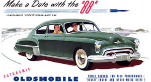 Retro 1949 Futuramic Oldsmobile 88