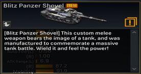 Blitz Panzer Shovel description