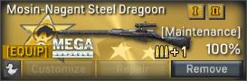Mosin-Nagant Steel Dragoon uncustomizable