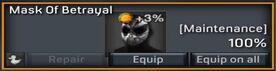 Mask of betrayal inventory