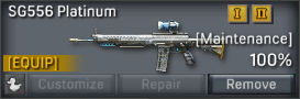 SG556 Platinum uncustomizable