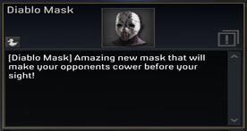 Diablo Mask description