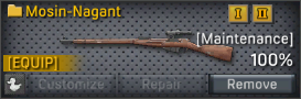 Mosin-Nagant uncustomizable
