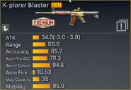 X-plorer Blaster statistics
