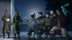 Team Avatar ambushes guards