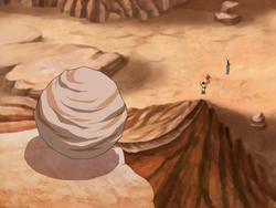 Rock on slope