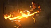 Mako fighting the Lieutenant