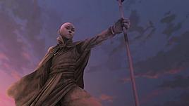 Aang's statue