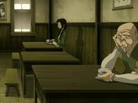 Jin in tea shop