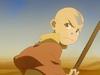 Angry Aang in desert