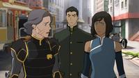 Lin, Mako, and Korra