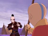 Zuko dueling Aang