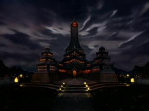 Fire Nation Royal Palace at night