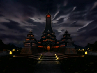 File:Fire Nation Royal Palace at night.png