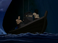 Pirates loading Zuko's ship