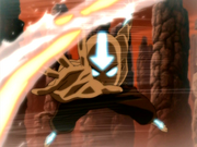 Avatar Aang charges